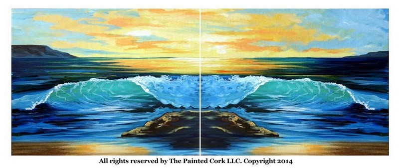 The Crashing Wave ~ Double Canvas