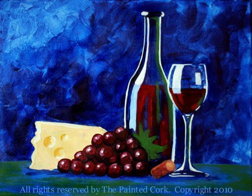 Blue Wine and Cheese