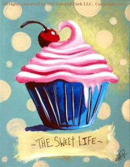 Folsom Studio 7/30: Sweet Life Cupcake ~ SUMMER SPECIAL $10 Off ~ Ages 21 and up