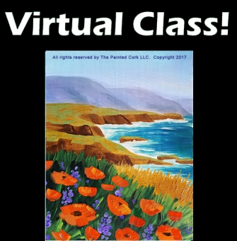 VIRTUAL CLASS 7/25: California Coast ~ PAINT AT HOME!