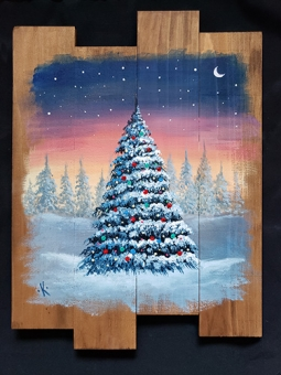 VIRTUAL CLASS 12/19: Snowy Christmas Tree