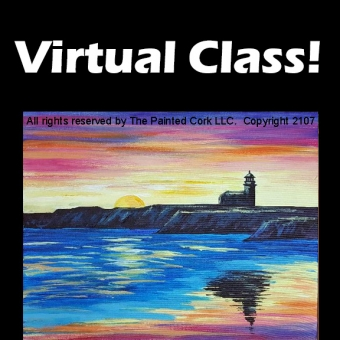 VIRTUAL CLASS 8/6: Steamers Lane Lighthouse ~ PAINT AT HOME!