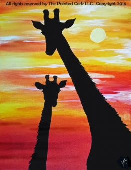 Folsom Family Room 7/16: Serengeti Sunrise ~ SUMMER SPECIAL ~ ONLY $25! ~