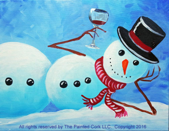 VIRTUAL CLASS 12/8: Laid Back Snowman