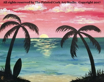 Folsom Studio 9/27: Tropical Sunset #1 ~ Ages 21 and up